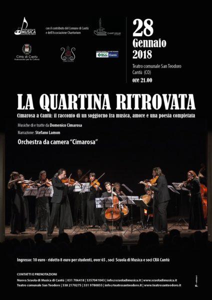 tEATRO COMUNALE sAN tEODORO cANTù-nUOVA SCUOLA DI MUSICA-LA QUARTINA RITROVATA